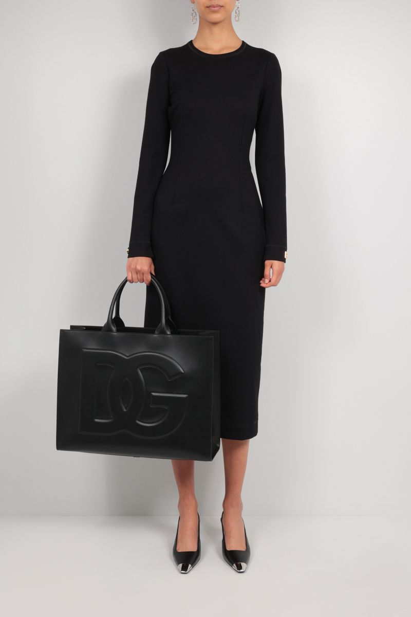 DOLCE & GABBANA: Beatrice medium smooth leather tote bag Color Black_2