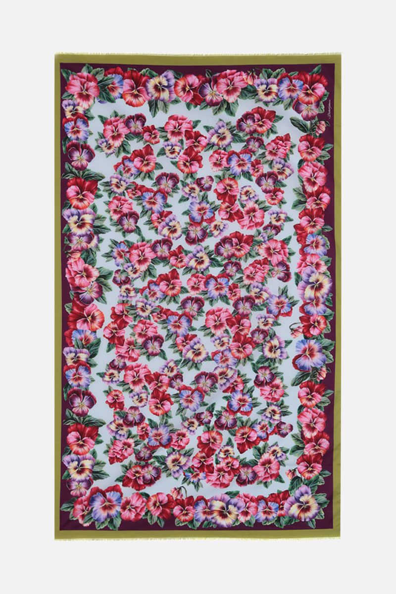 DOLCE & GABBANA: floral printed lightweight cotton sarong_2