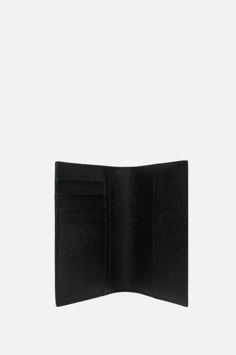 DOLCE & GABBANA: Dauphine leather passport holder Color Black_2
