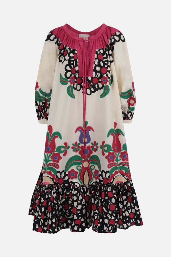 LA DOUBLE J: Folk cotton midi dress Color Multicolor_1