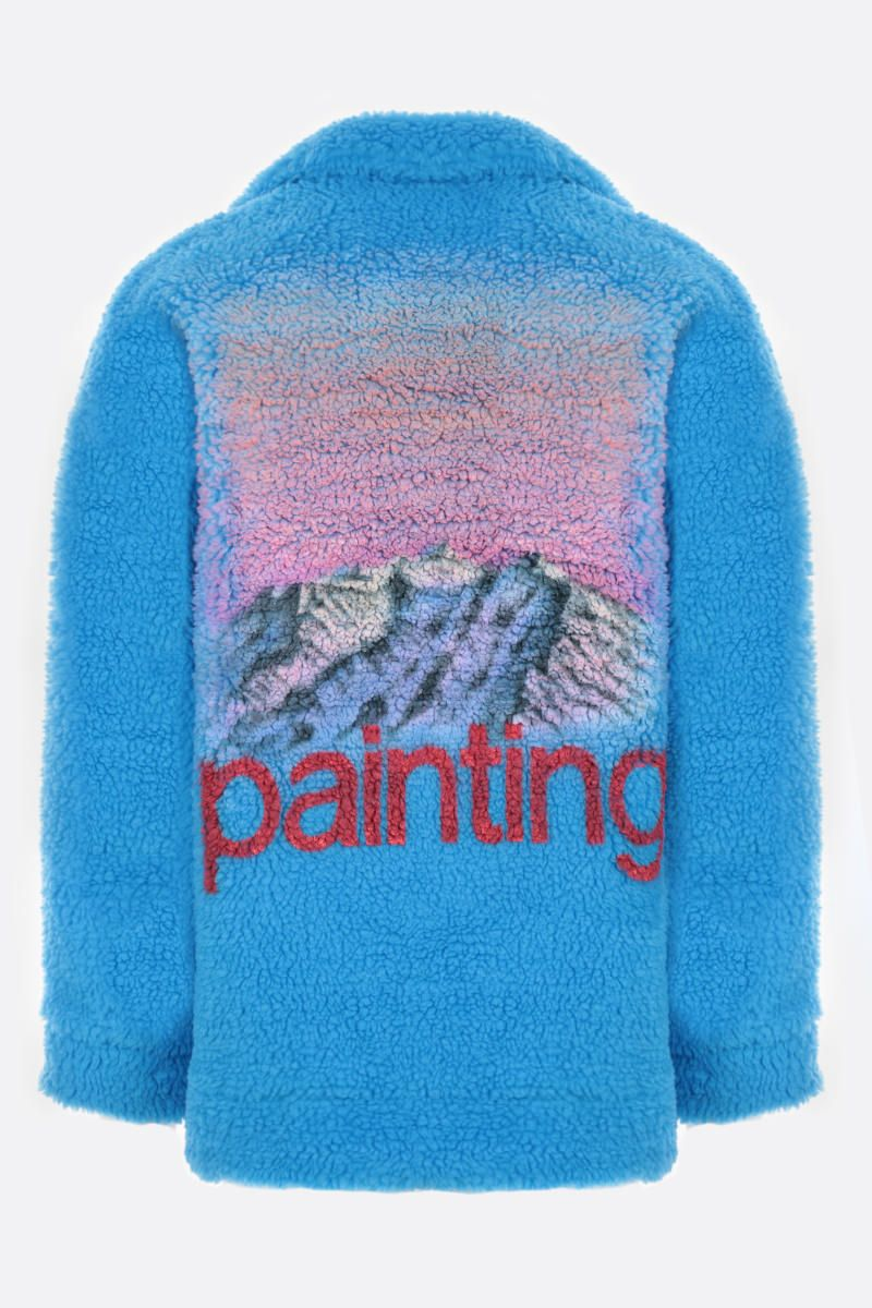 DOUBLET: giubbotto Painting in ecopelliccia Colore Blue_2