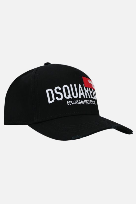 DSQUARED2: cappello baseball D&D Red Tag in cotone Colore Nero_2