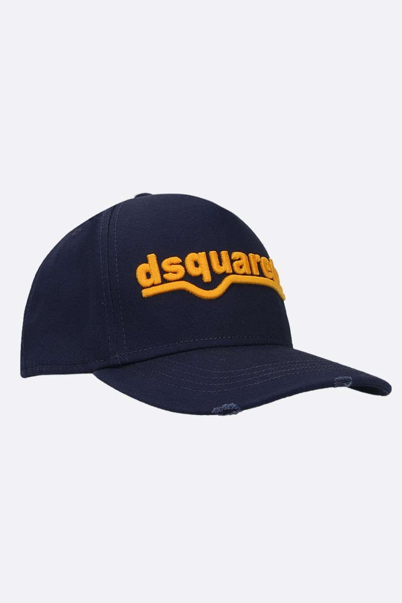 DSQUARED2: cappellino baseball in canvas ricamo dsquared2 Colore Blu_2