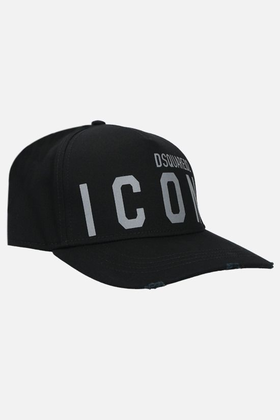 DSQUARED2: Icon Dsquared2 cotton baseball cap Color Black_2