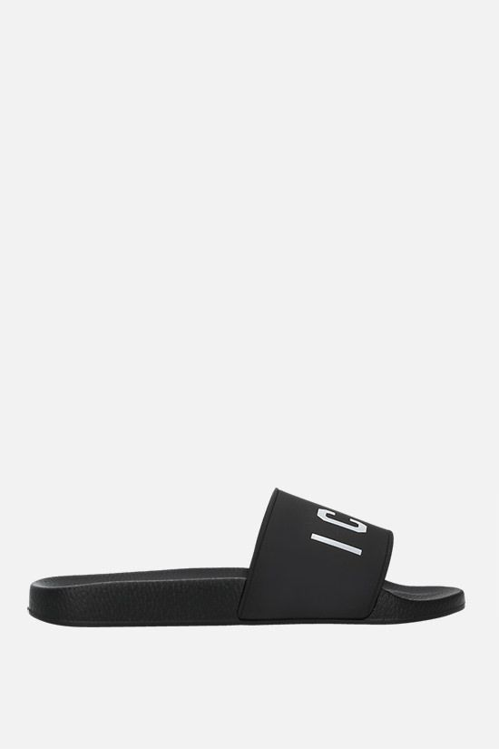 DSQUARED2: Icon rubber slides Color Black_1