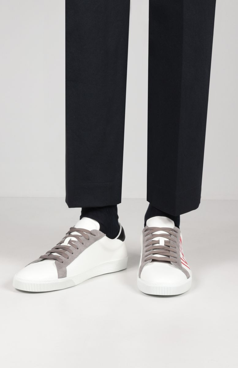 DSQUARED2: Cassetta smooth leather sneakers Color Multicolor_2