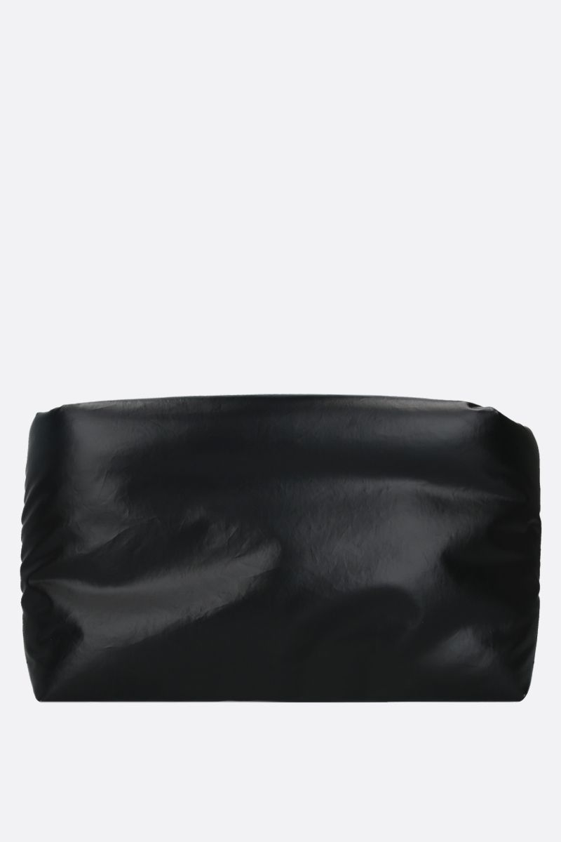 KASSL EDITIONS: Oil Light coated canvas padded clutch Color Black_3