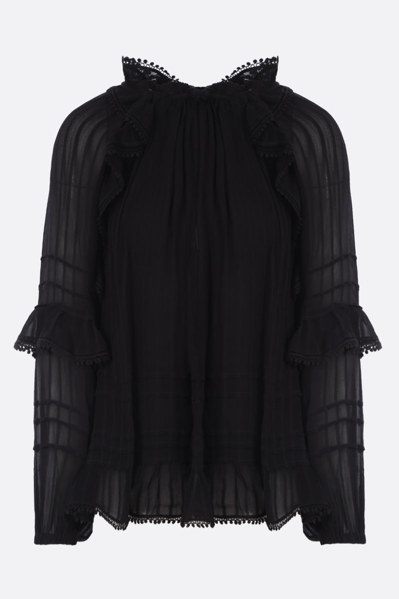 ISABEL MARANT ETOILE: blusa Jayden in crepe Colore Nero_1