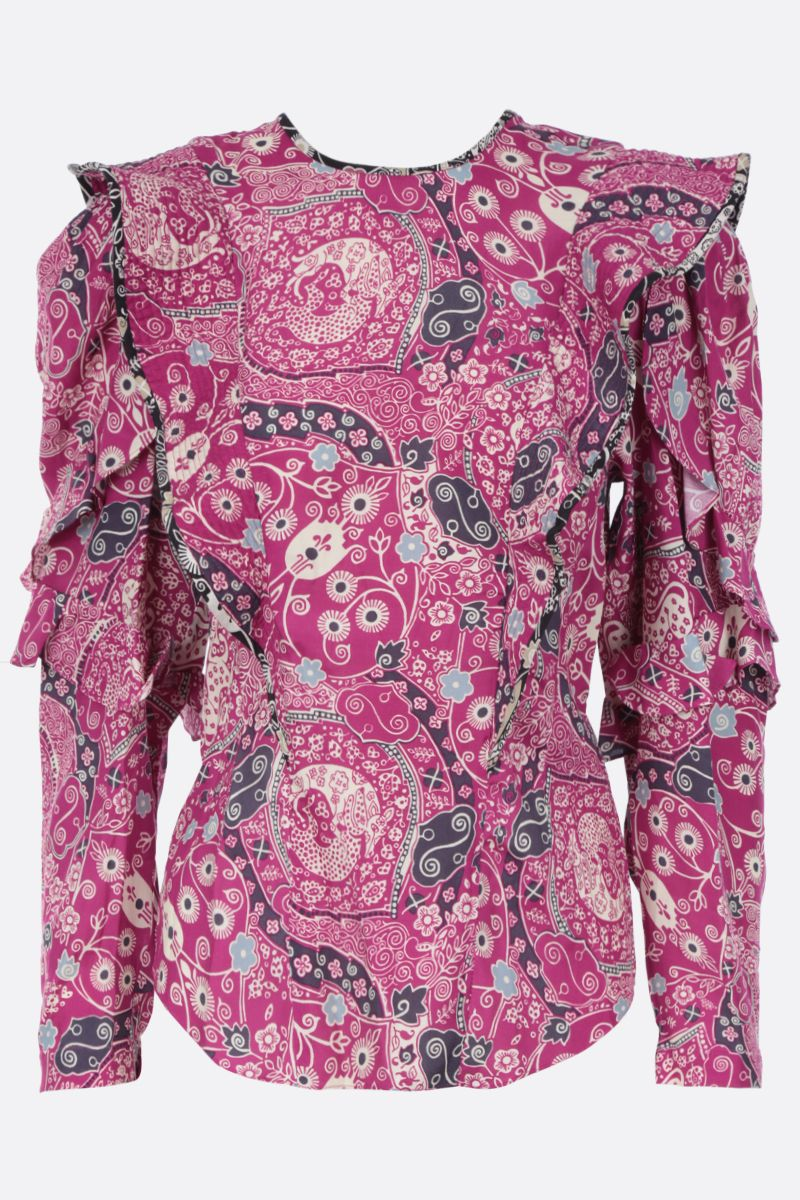 ISABEL MARANT ETOILE: Constance blouse in printed rayon blend_1