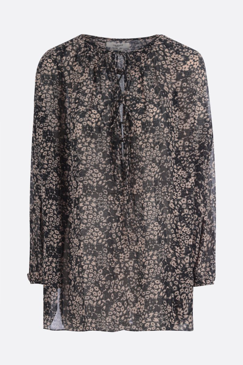 ISABEL MARANT ETOILE: Liliana georgette oversize blouse Color Black_1