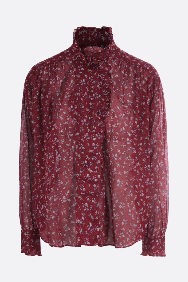 ISABEL MARANT ETOILE: Pamias printed cotton blouse Color Red_1