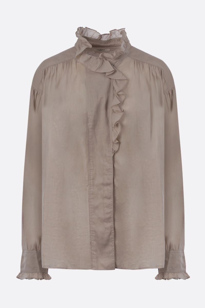 ISABEL MARANT ETOILE: Pamias cotton blouse Color Neutral_1