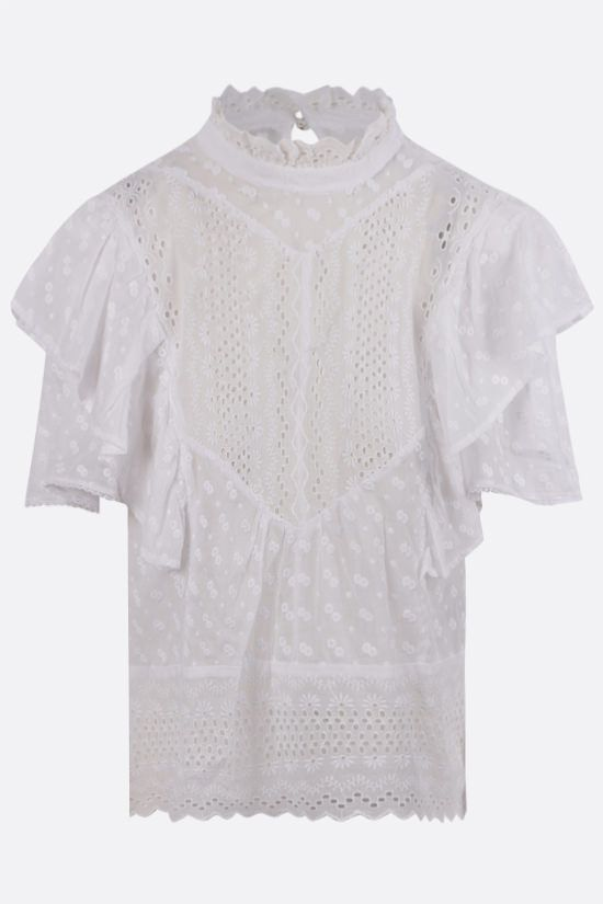 ISABEL MARANT ETOILE: Tizaina cotton blouse Color White_1
