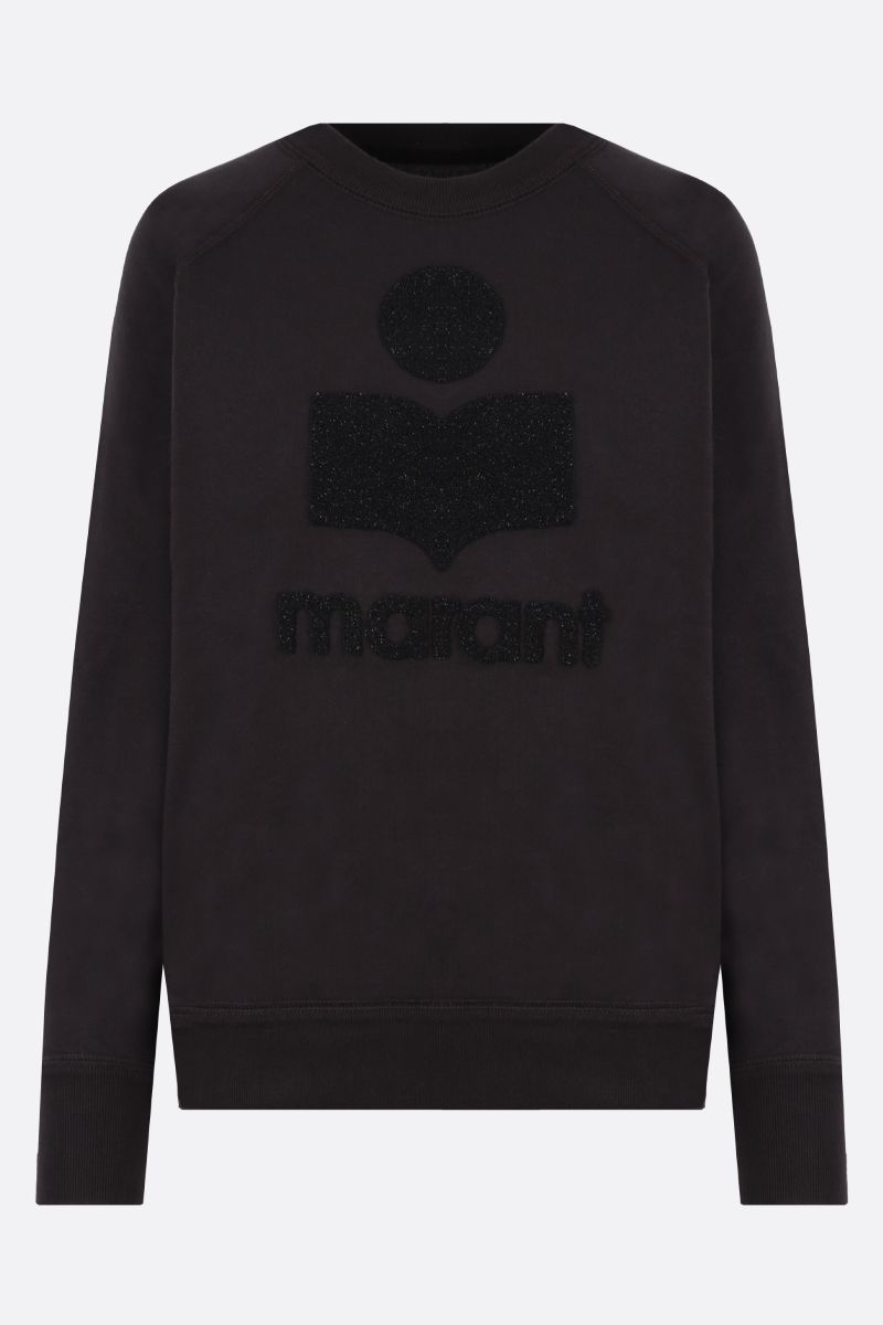 ISABEL MARANT ETOILE: Milly cotton blend sweatshirt Color Black_1