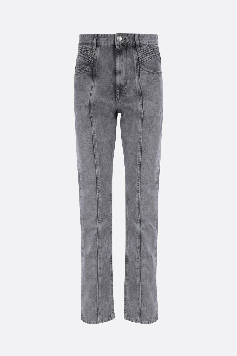 ISABEL MARANT ETOILE: jeans straight-fit Hominy Colore Grigio_1