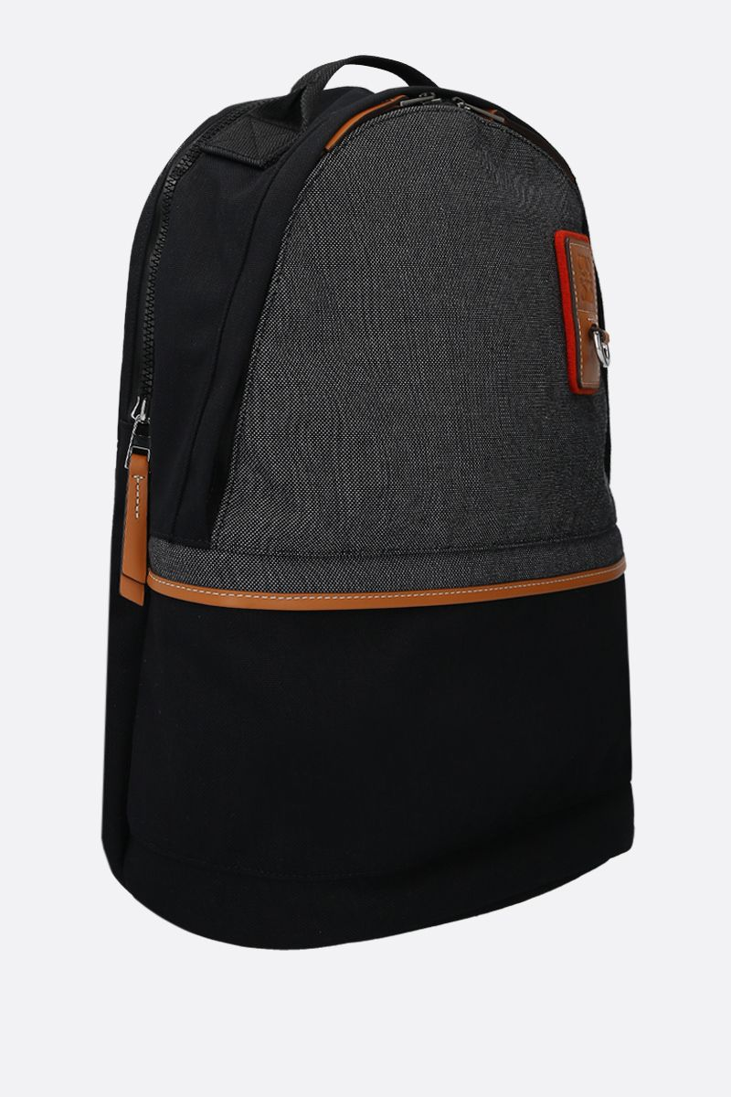 Eye/LOEWE/Nature: Eye/LOEWE/Nature small canvas backpack Color Black_2