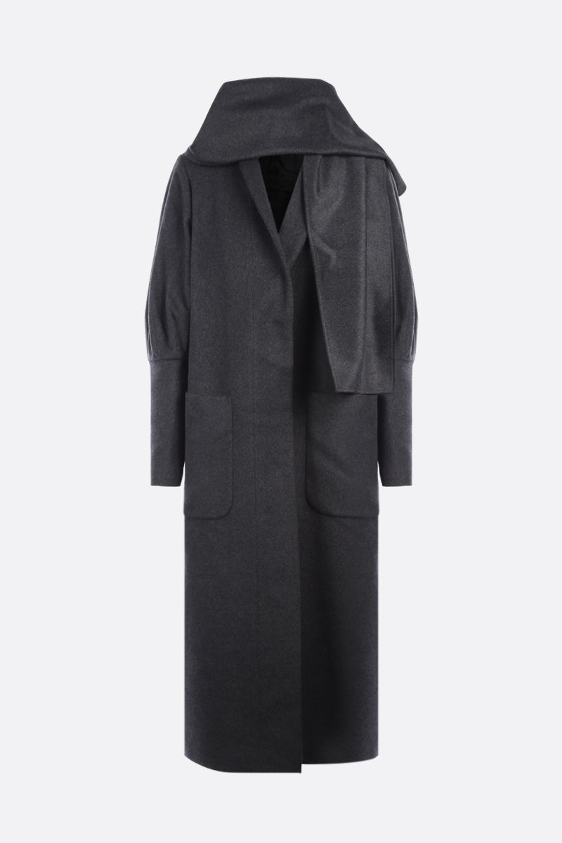 FEDERICA TOSI: single-breasted cashmere wool blend coat Color Grey_1