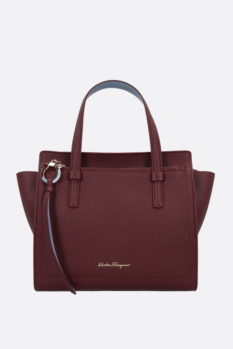 SALVATORE FERRAGAMO: Amy grainy leather handbag_1