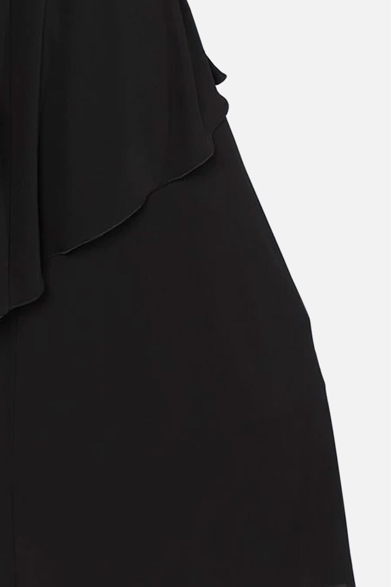 ALBERTA FERRETTI: lace insert crepe midi dress Color Black_2