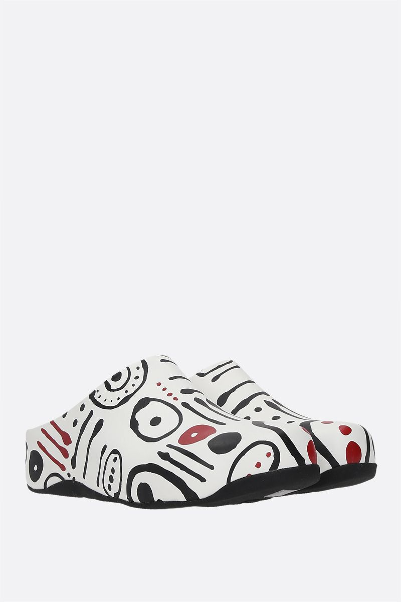 FITFLOP X 10 CORSO COMO: Shuv smooth leather mules Color Red_2