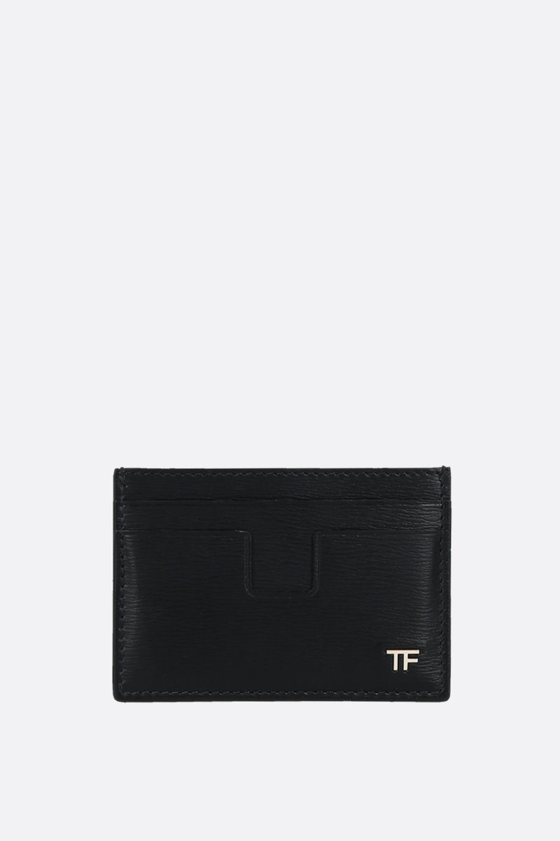 TOM FORD: textured leather card case Color Black_1
