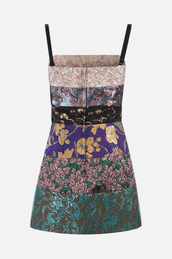 DOLCE & GABBANA: patchwork brocade minidress Color Multicolor_2