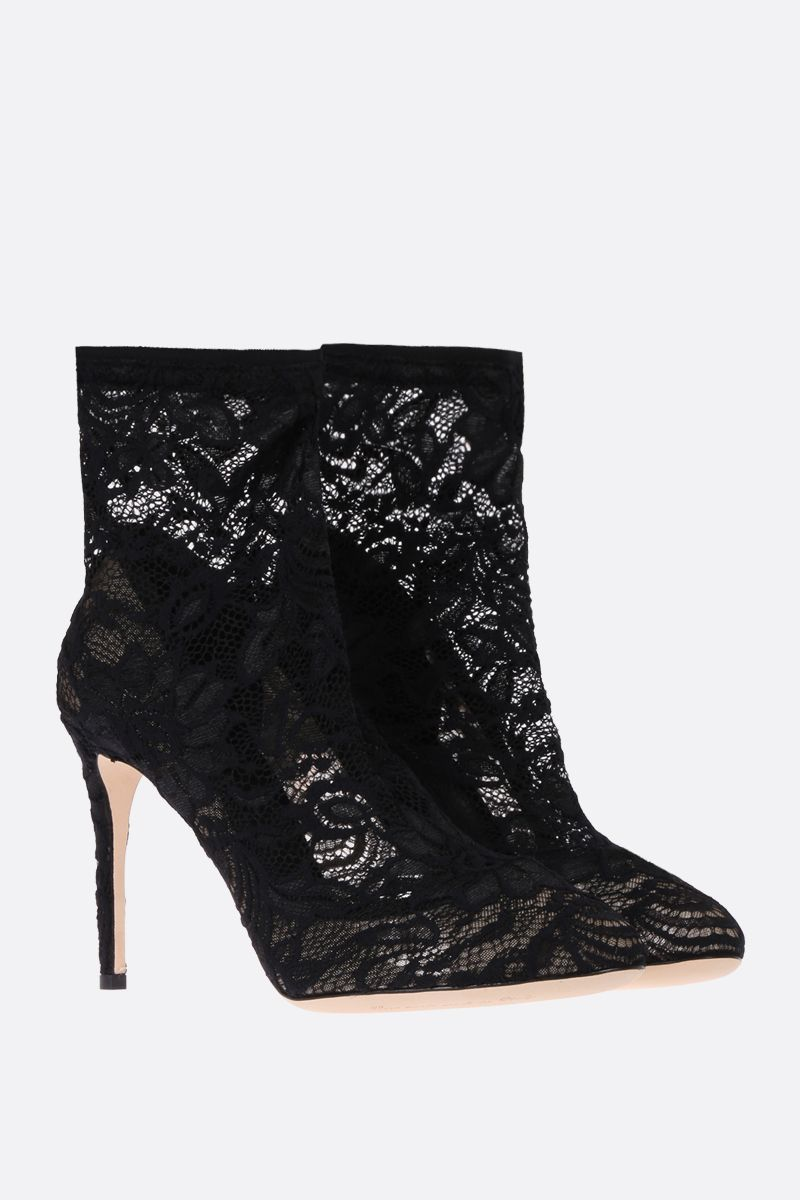 DOLCE & GABBANA: Bette ankle boots in Taormina lace Color Black_3