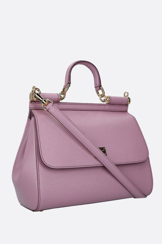 DOLCE & GABBANA: Sicily medium smooth leather handbag Color Pink_2