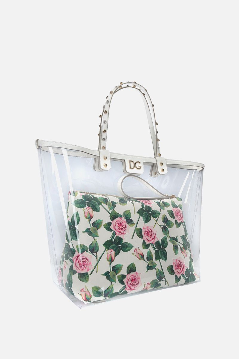 DOLCE & GABBANA: Beatrice shopping bag in PVC and Dauphine leather_2
