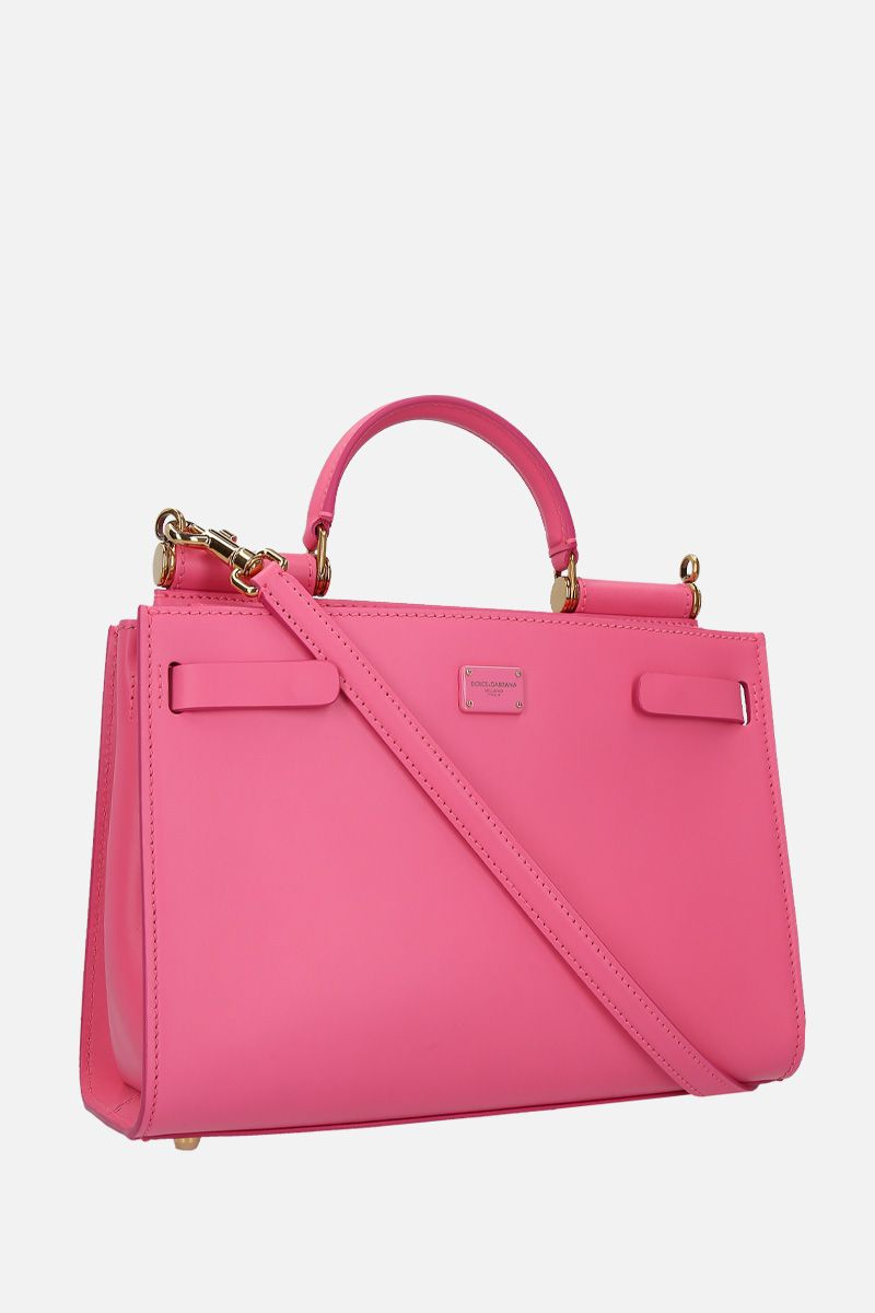 DOLCE & GABBANA: Sicily 62 small top handle bag in smooth leather Color Pink_2