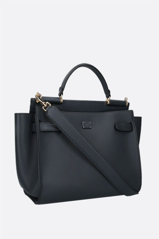 DOLCE & GABBANA: Sicily medium smooth leather handbag Color Grey_2