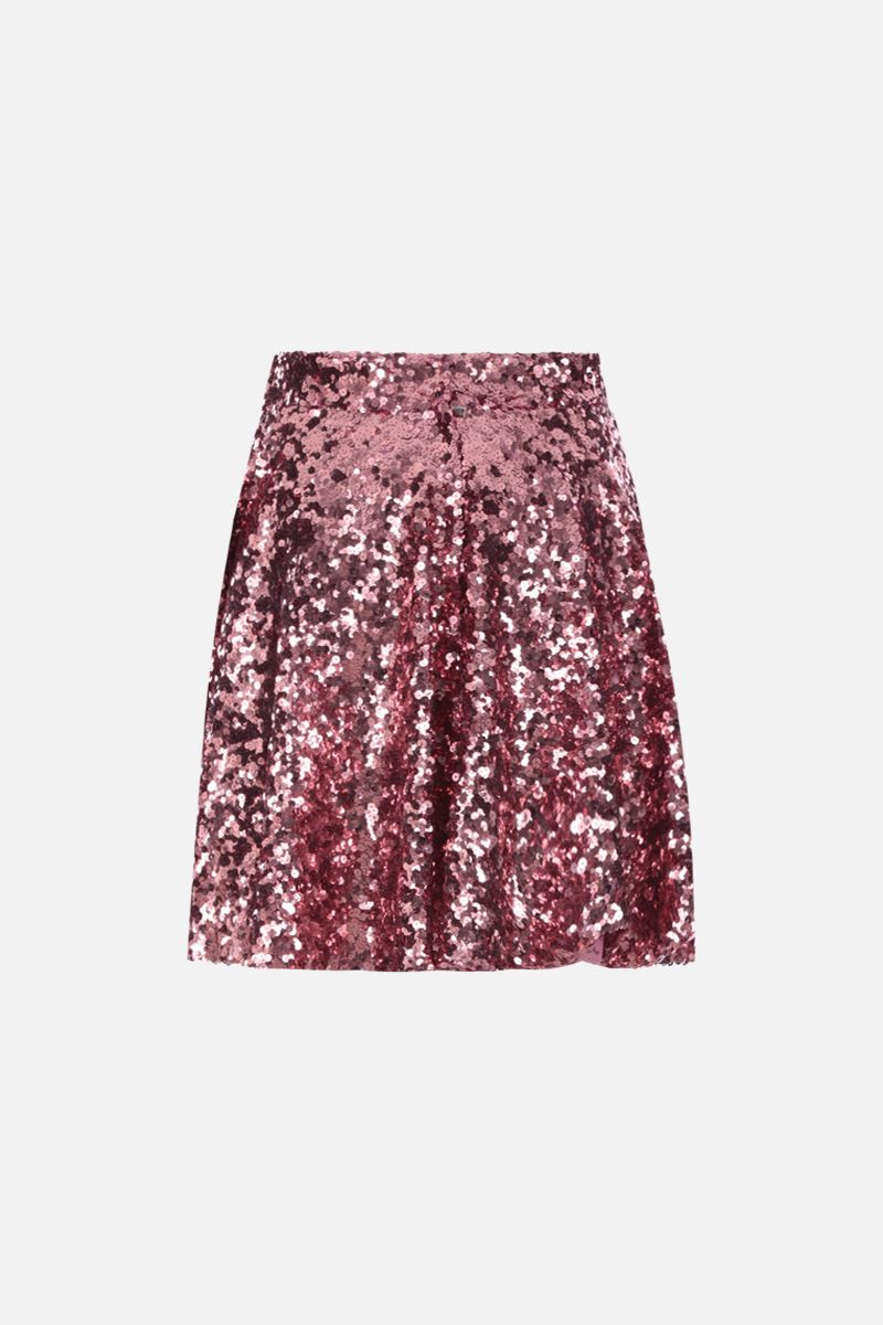 DOLCE & GABBANA: gonna a ruota in paillettes Colore Rosa_2