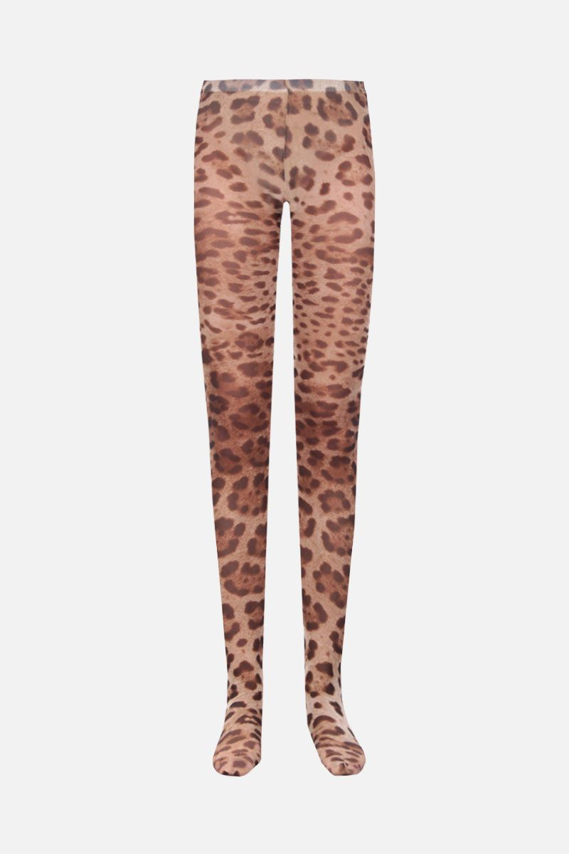 DOLCE & GABBANA: leopard print nylon tights Color Animalier_1