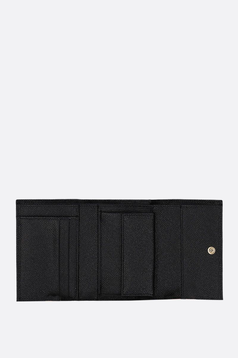 DOLCE & GABBANA: Dauphine leather french wallet Color Black_2