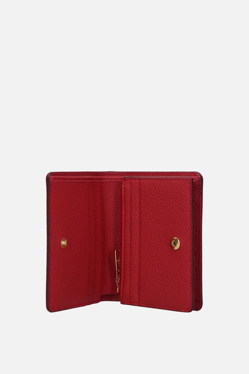 DOLCE & GABBANA: grainy leather flap wallet Color Red_2