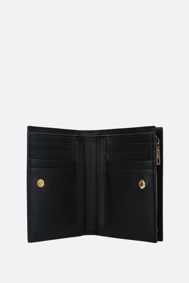 DOLCE & GABBANA: DG-detailed smooth leather mini wallet Color Black_2