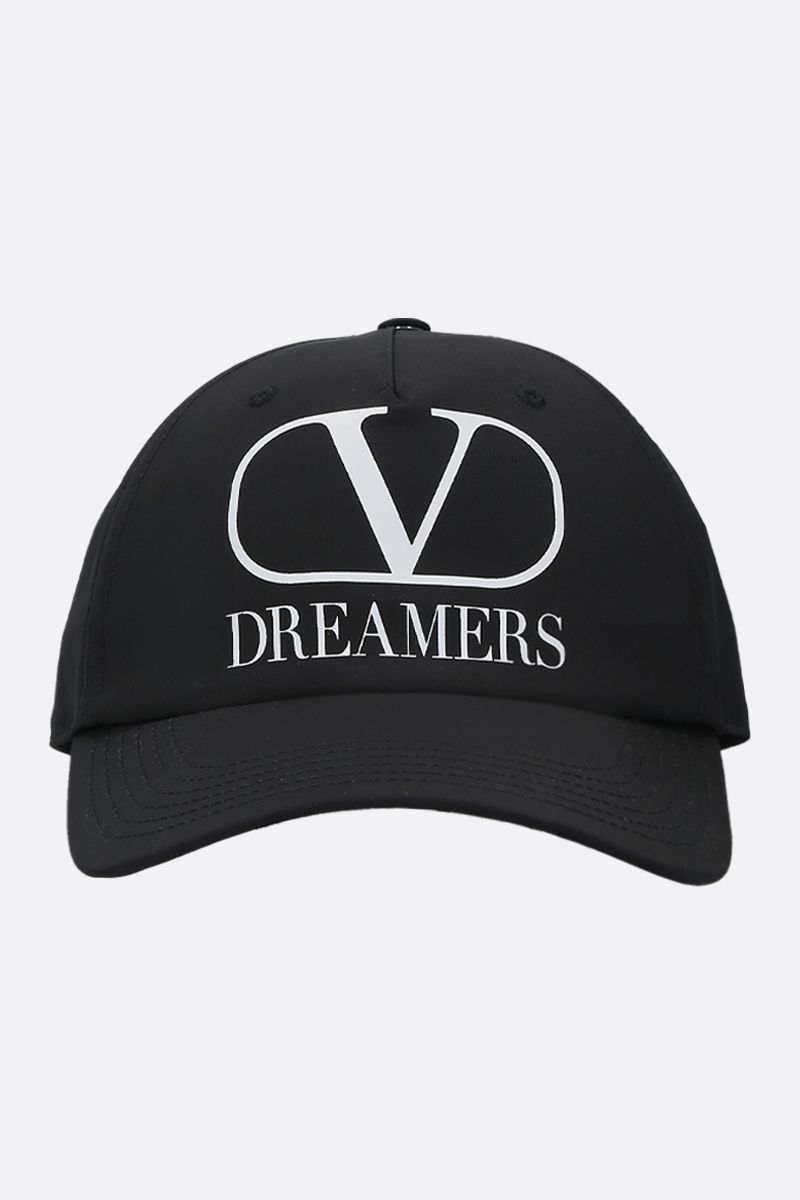 VALENTINO GARAVANI: VLOGO Dreamers nylon baseball cap Color Black_1