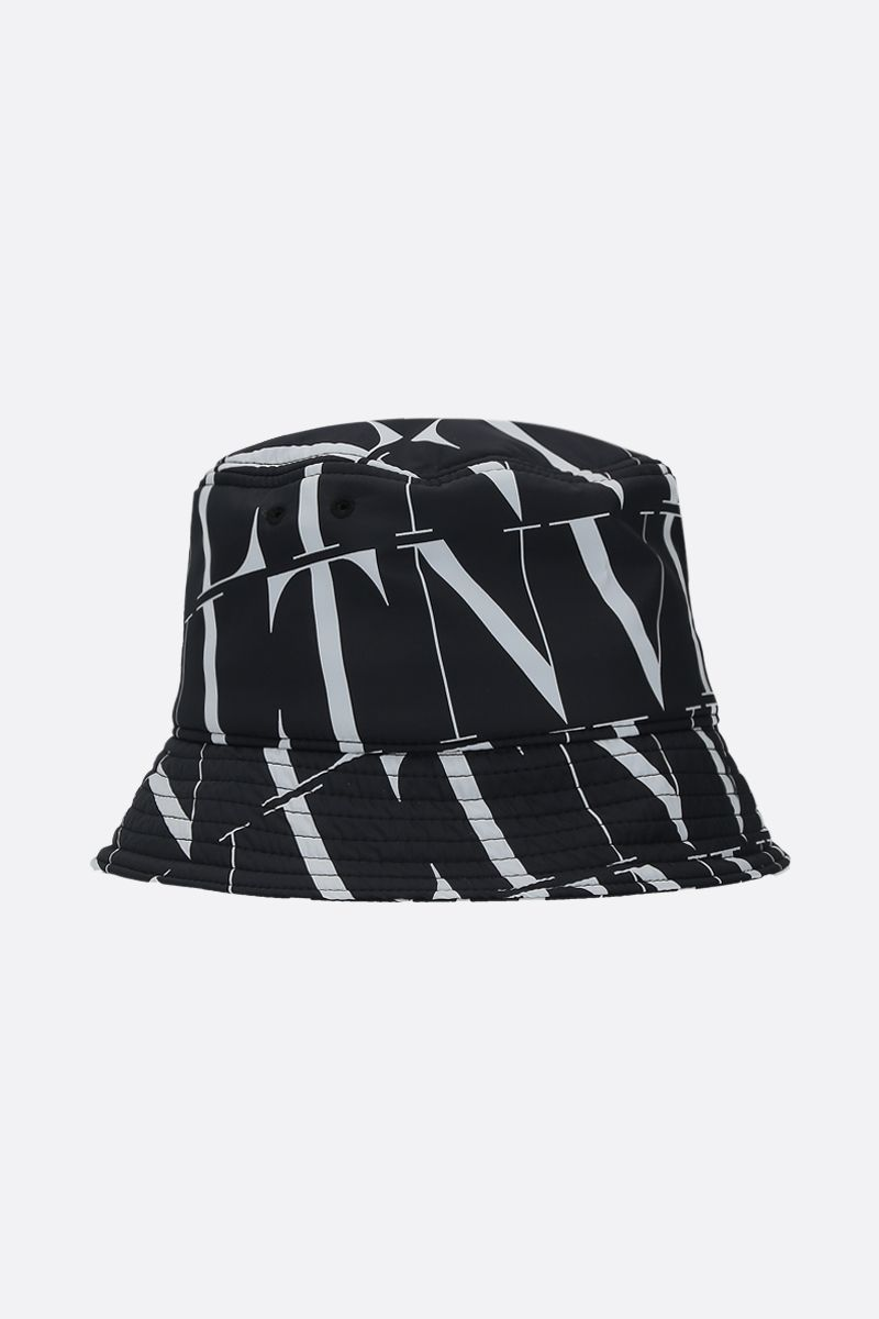 VALENTINO GARAVANI: VLTN TIMES nylon bucket hat Color Black_1