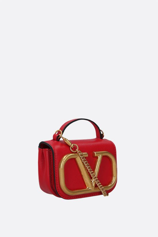 VALENTINO GARAVANI: Supervee smooth leather chain clutch_2