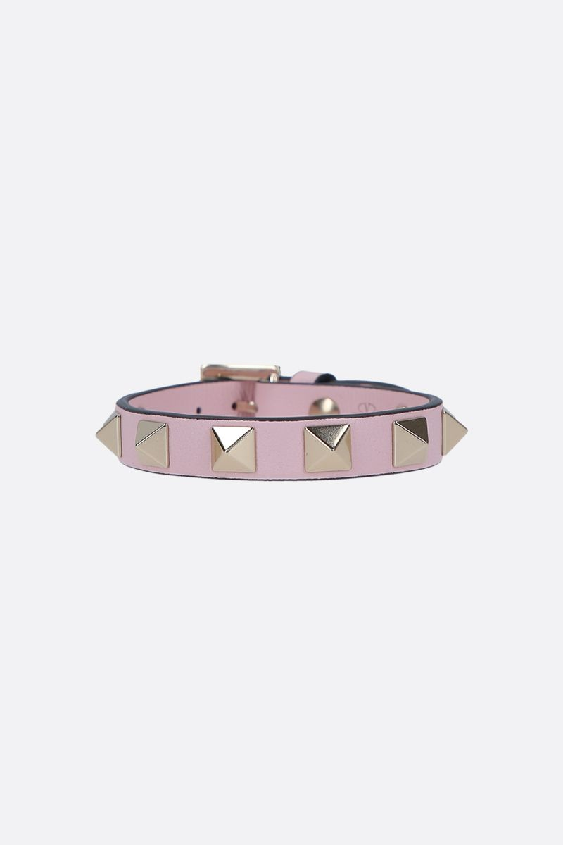 VALENTINO GARAVANI: Rockstud smooth leather bracelet_1