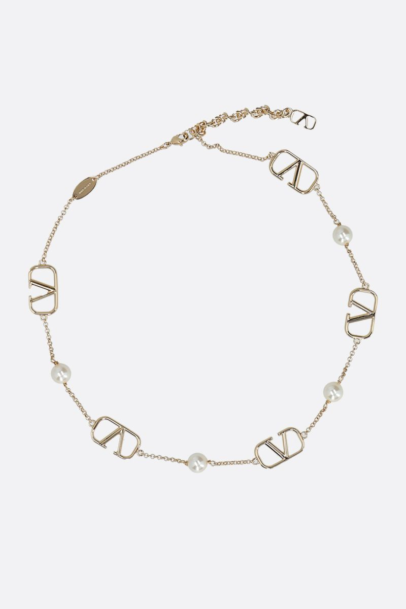 VALENTINO GARAVANI: VLOGO Signature metal necklace_1