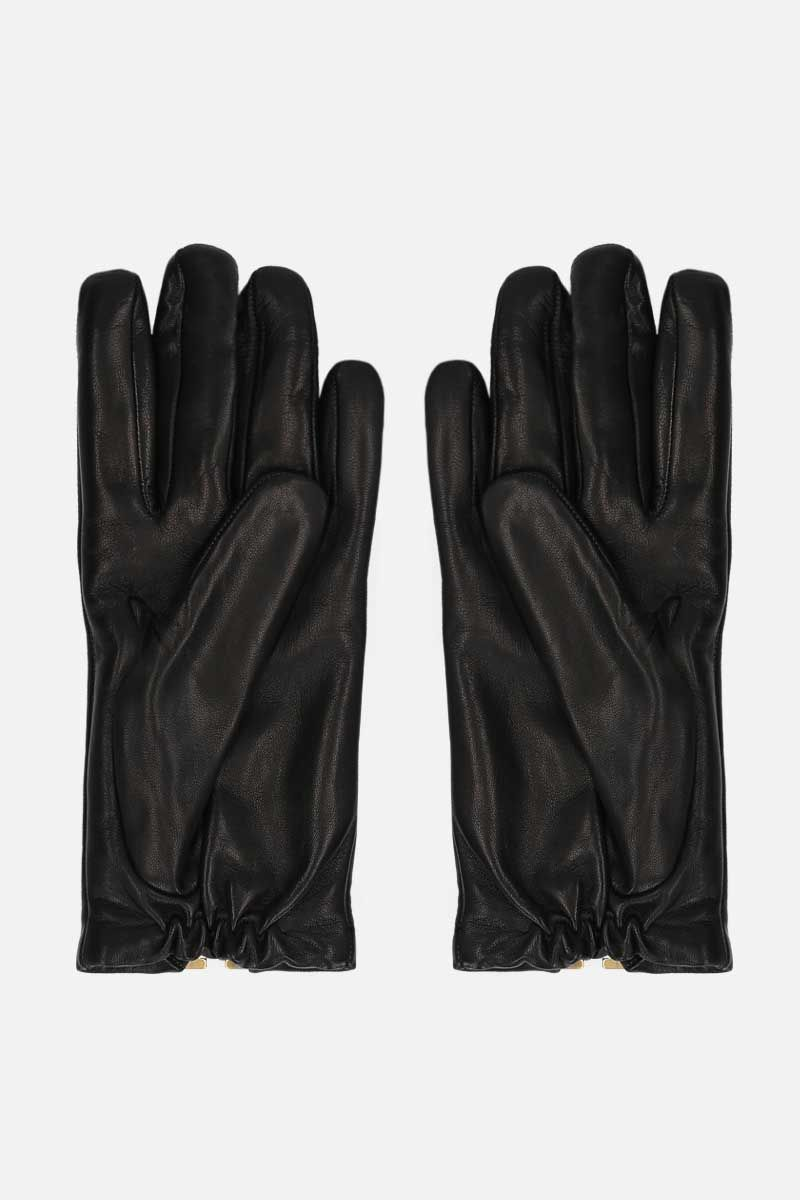 VALENTINO GARAVANI: VLOGO soft nappa gloves Color Black_2