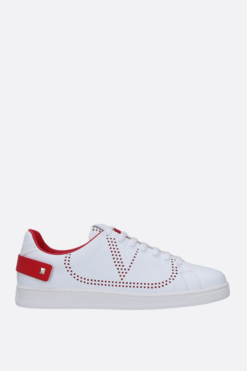 VALENTINO GARAVANI: Backnet sneakers in smooth leather Color White_1
