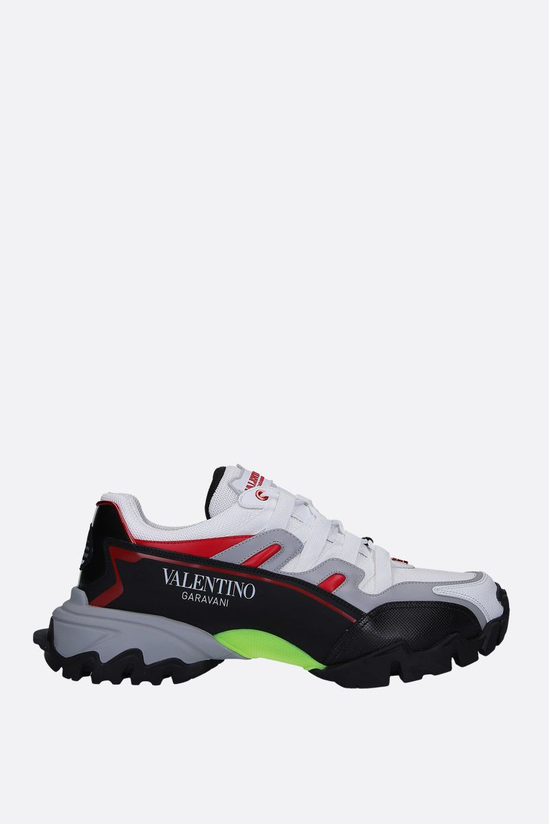 VALENTINO GARAVANI: Climbers sneakers in mesh and smooth leather_1
