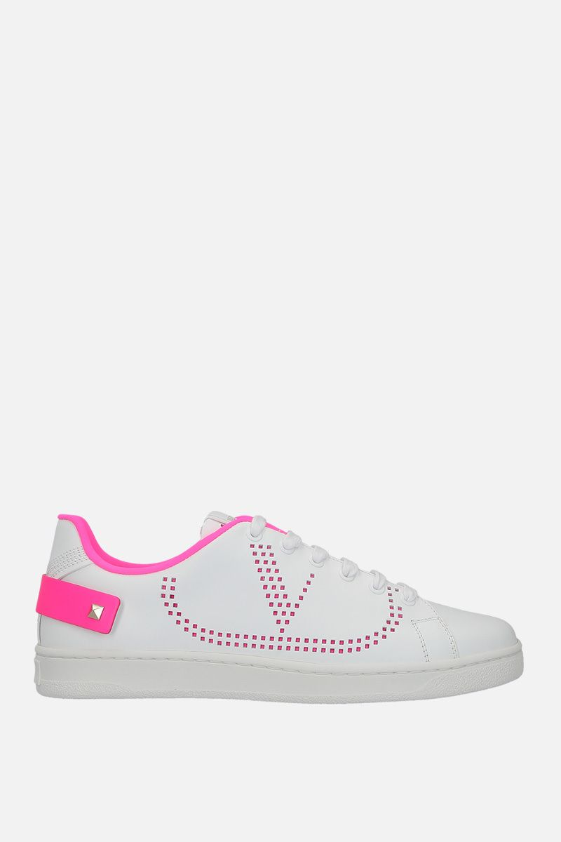 VALENTINO GARAVANI: Backnet smooth leather sneakers Color White_1