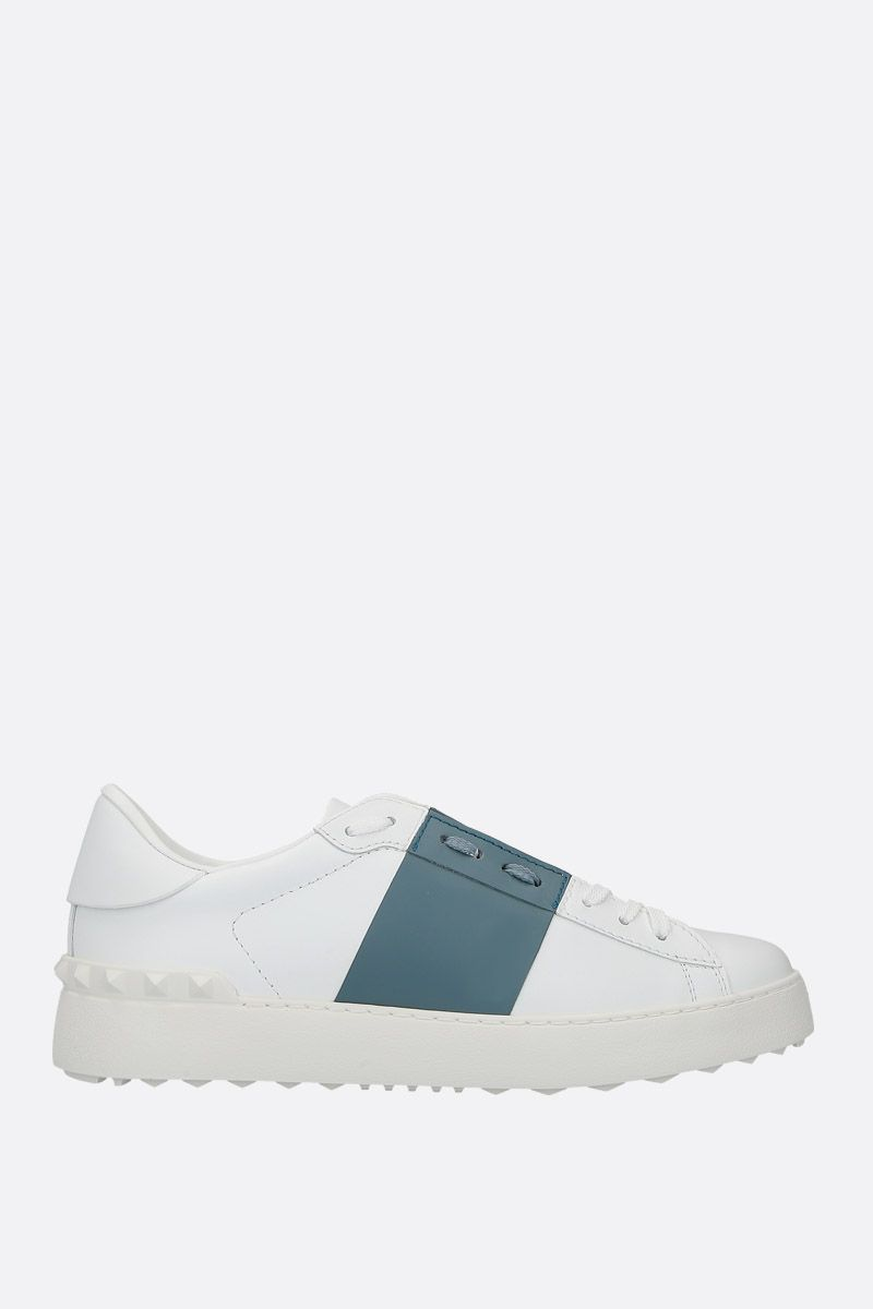VALENTINO GARAVANI: Open sneakers in smooth leather_1