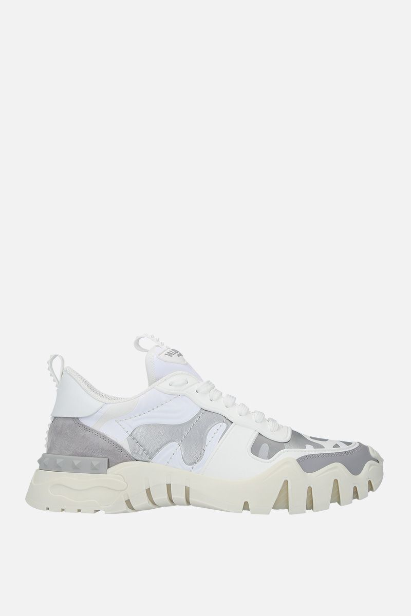 VALENTINO GARAVANI: Rockrunner Plus camouflage canvas sneakers Color Multicolor_1
