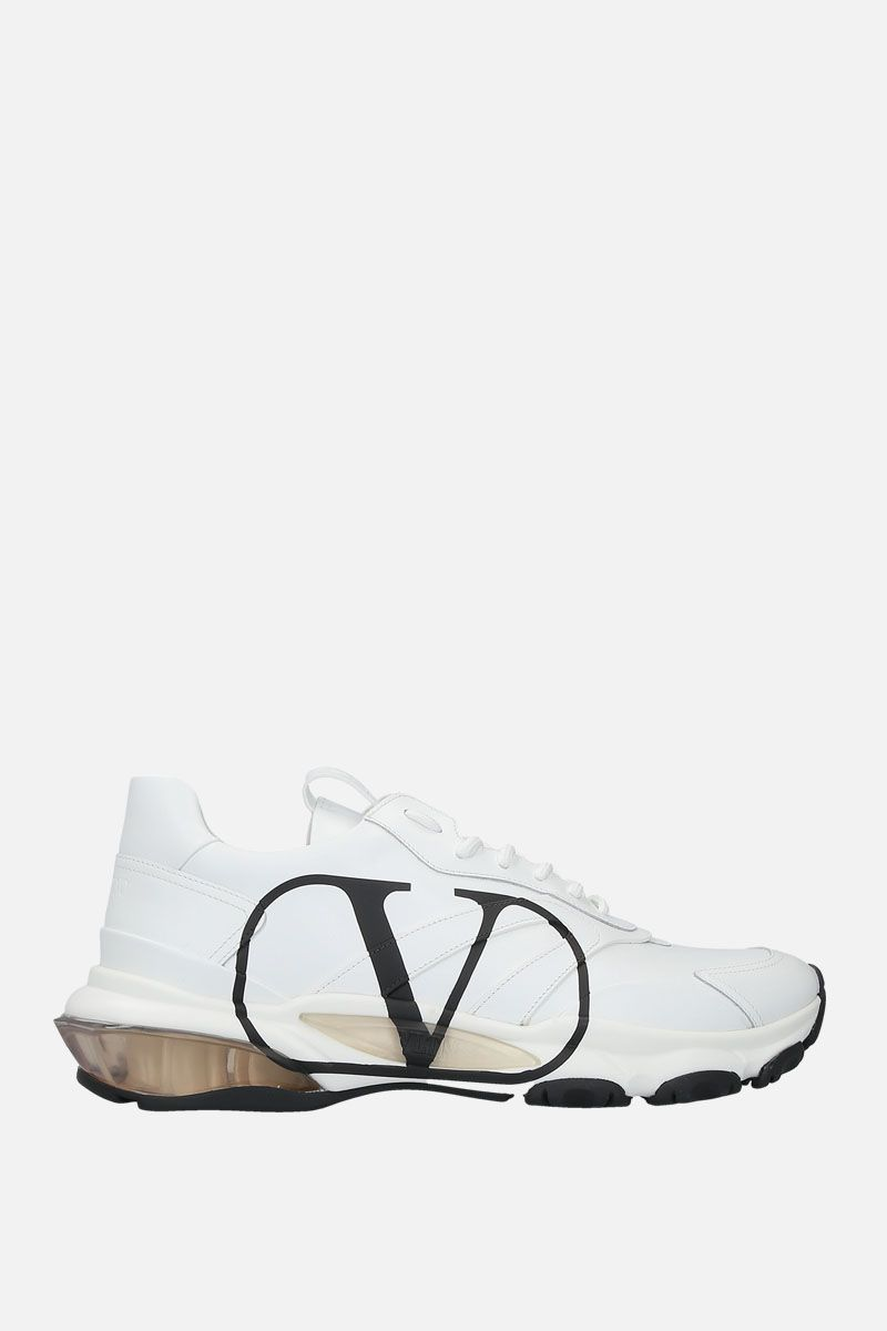 VALENTINO GARAVANI: Bounce VLOGO sneakers in smooth leather Color White_1