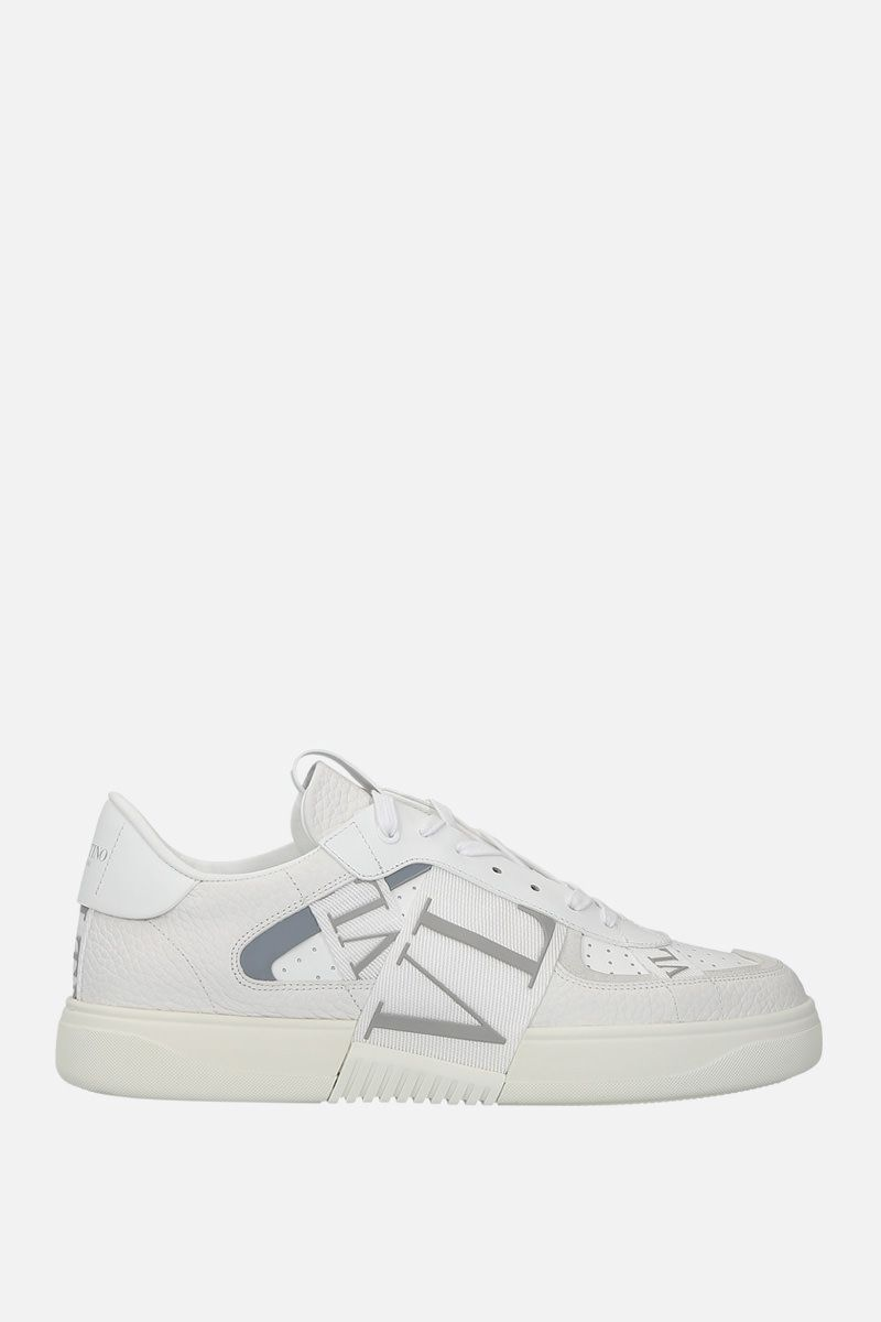 VALENTINO GARAVANI: VL7N grainy leather and tech fabric sneakers Color Multicolor_1