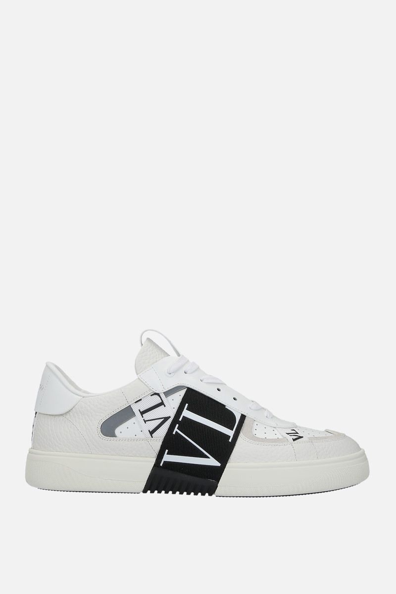 VALENTINO GARAVANI: VL7N grainy leather and tech fabric sneakers Color White_1